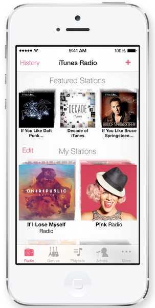 iTunes Radio Apple - iOS 7
