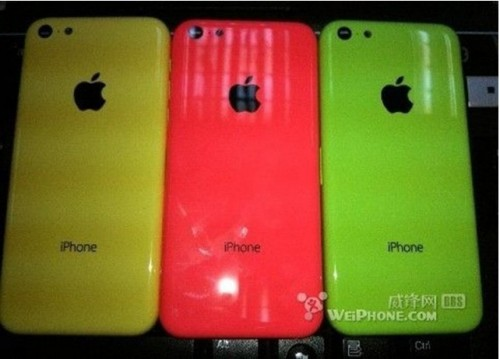 iphone low cost- coloris jaune  rouge vert
