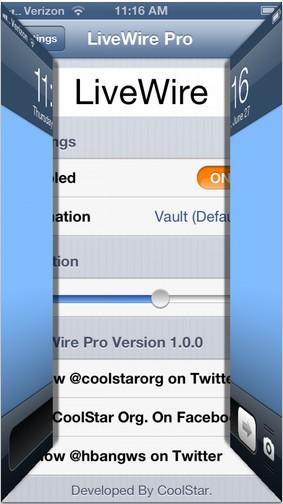 LiveWire Pro - tweak Cydia