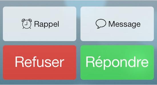 boutons téléphone iOS 7 beta 4 - Info iDevice