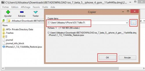 IOS 7 beta 5- comment transformer - convertir un DMG en IPSW