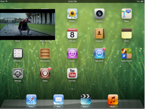 VideoPane tweak Cydia - Info iDevice