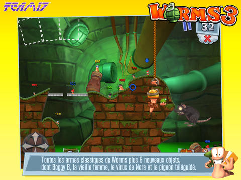 armes Worms 3- Info iDevice