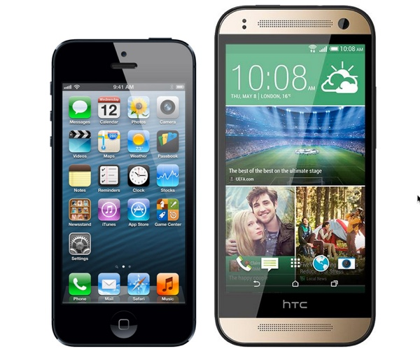 comparaison iphone 5 htc one mini infoidevice