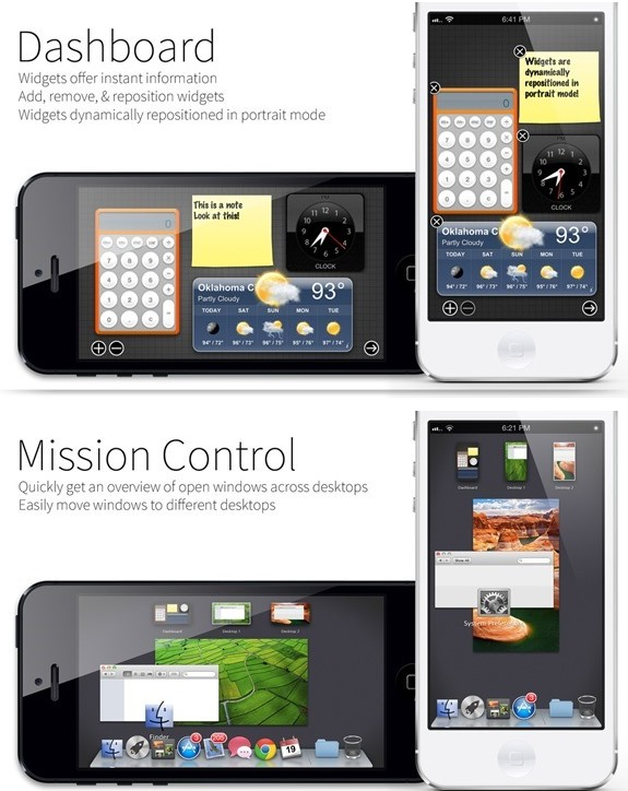 dash board et mission control Mavericks - Info iDevice