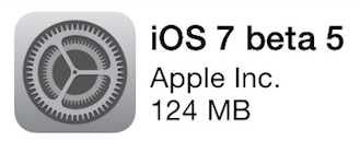 iOS 7 bêta 5 - Info iDevice