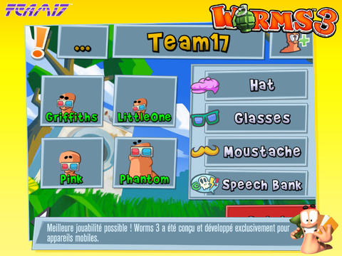 mailleure jouabilité Worms 3 - Info iDevice