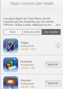 Applications conçues par Apple-Info iDevice