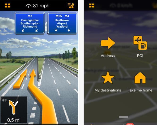 GPS NAVIGON Europe - Info iDevice
