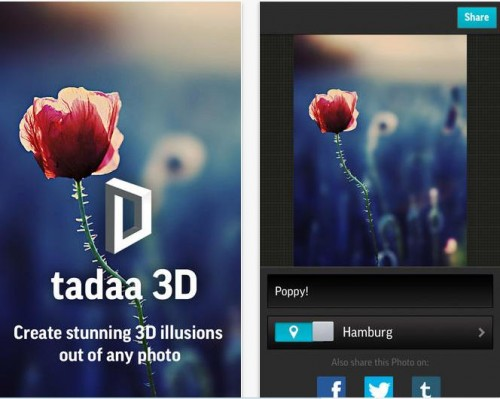 Tadaa 3D pour iPhone - Info iDevice