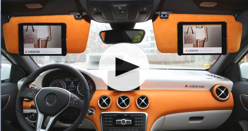 Zalando iPad car concept - Info iDevice