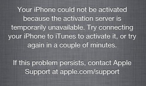 iOS 7 impossible d'activer l'iPhone - Info iDevice