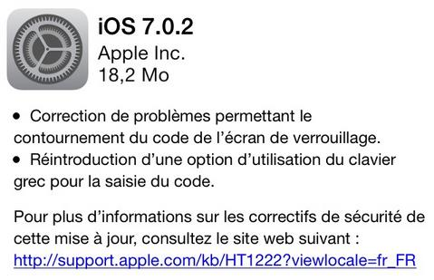 iOS 7.0.2 Apple-Info iDevice
