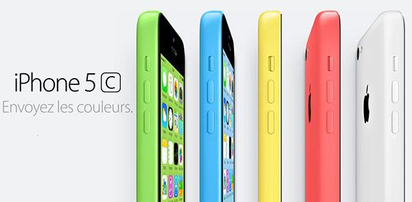 iPhone 5C envoyez les couleurs - Info iDevice