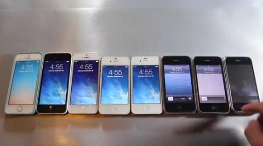 test performances iPhone 5s, 5, 4S, 4, 3GS, 3G, 2G - Info iDevice
