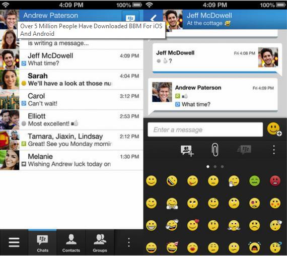 BBM sur iOS - Info iDevice
