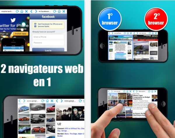 Double Browser Pro iOS 7-Info iDevice