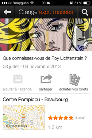 Expositions Orange expo musées-Info iDevice