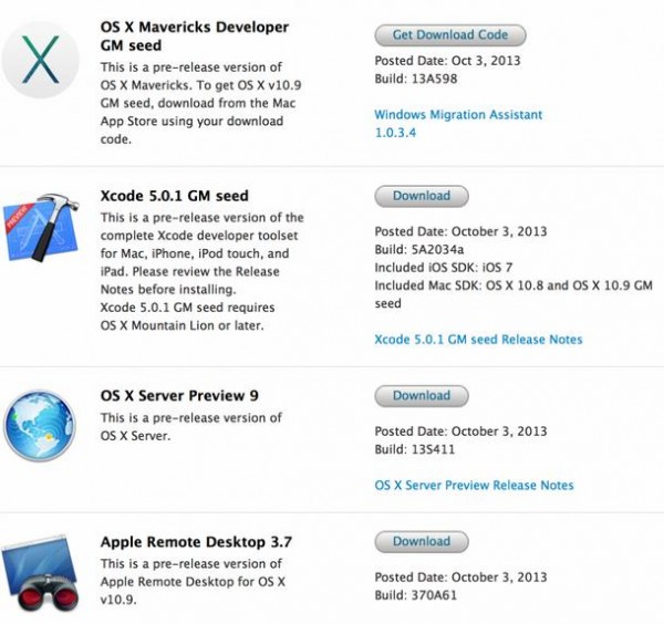 OS X Mavericks Gold Master - InfoiDevice