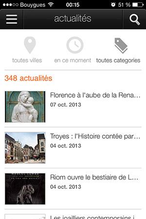 Orange expo musées Actualités-Info iDevice
