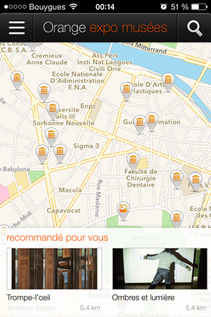 Orange expo musées GPS-Info iDevice