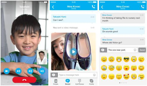 Skype iOS 7-InfoiDevice