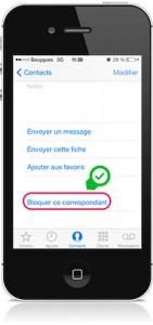 bloquer ce correspondant iOS 7-Info iDevice