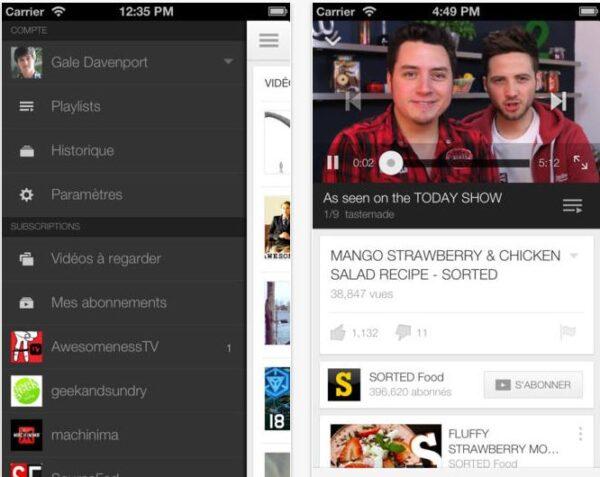 choix qualité vidéo YouTube- Info iDevice