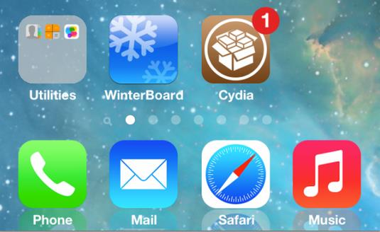 jailbreak iOS 7 cydia winterboard
