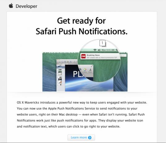 notifications Push Safari Mavericks-Info iDevice