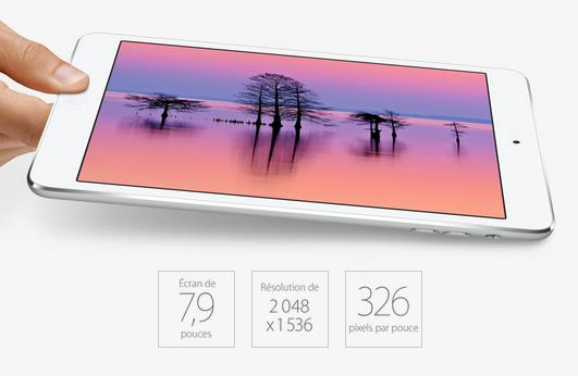 résolution iPad mini 2 Retina-Info iDevice