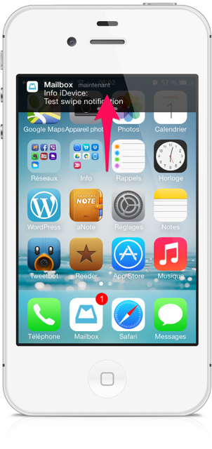 rejeter une notification sur iOS 7- Info iDevice