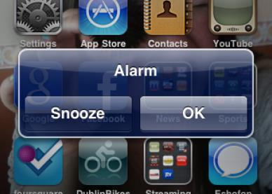 Alarm iPhone-Info iDevice