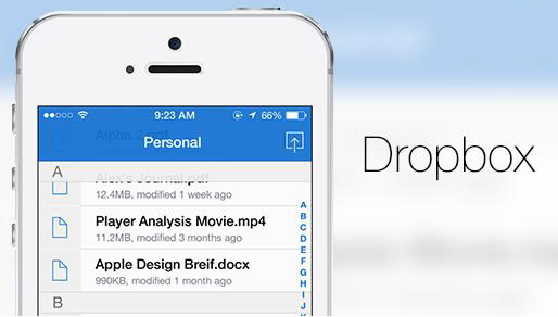 Dropbox pour iOS 7-Info iDevice