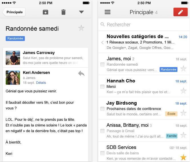 Gmail version 2.7182-Info iDevice