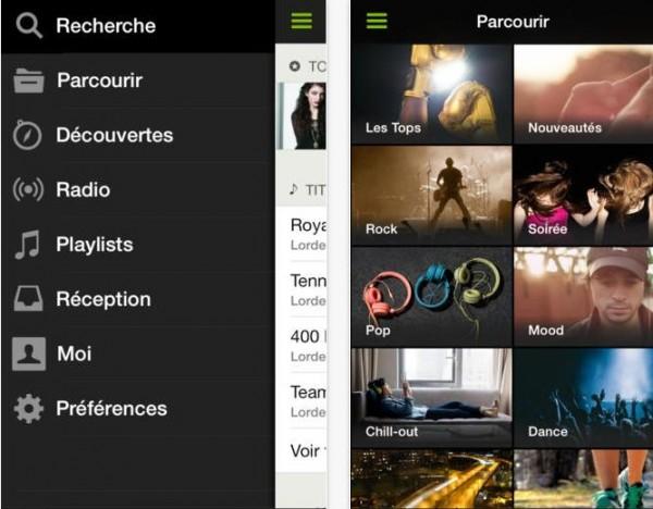 Spotify version 0.9.1-Info iDevice