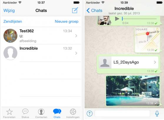 WhatsApp iOS 7- Info iDevice