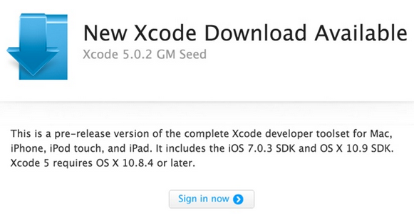 Xcode 5.0.2 Gold Master-Info iDevice