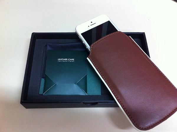 housse en cuir pour iPhone 5S-5 Brunswick England-Info iDevice