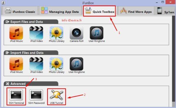 iFunbox jailbreak iOS 7.0.4-Info iDevice