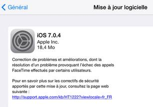 iOS 7.0.4 Apple - Info iDevice