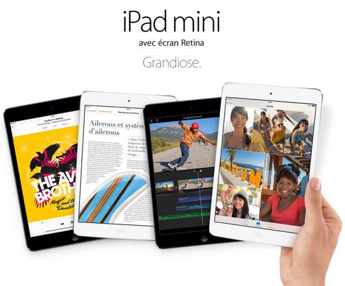 iPad mini avec écran Retina-Info iDevice
