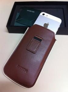languette housse en cuir pour iPhone 5S-5 Brunswick England-Info iDevice