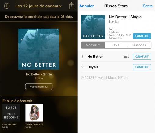 12 jours de cadeaux iTunes - Lerbe - Info iDevice