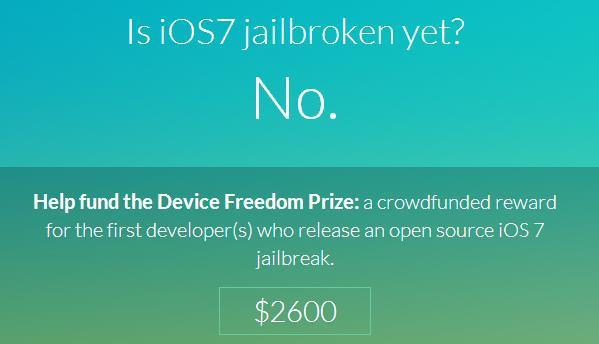 Crowdfunding jailbreak iOS 7-Info iDevice