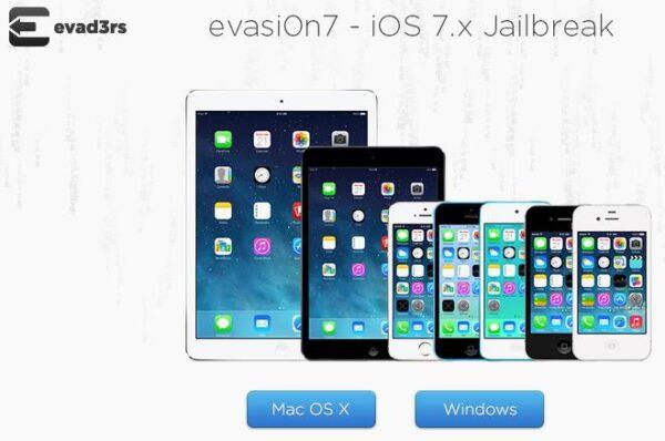image du site Evasi0n pour le jailbreak iPhone et iPad avec Evasi0n7