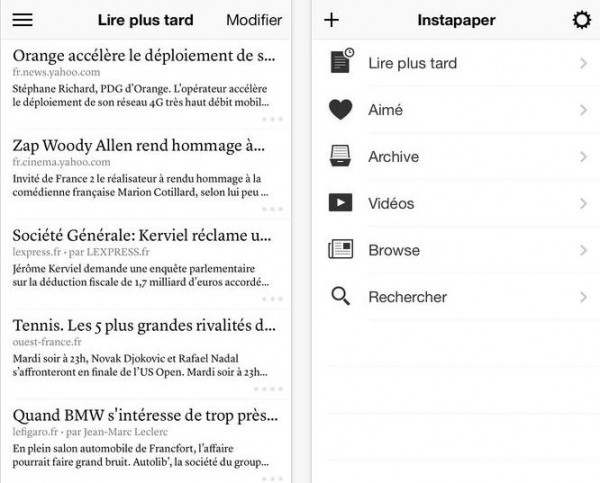 Instapaper iTunes-Info iDevice