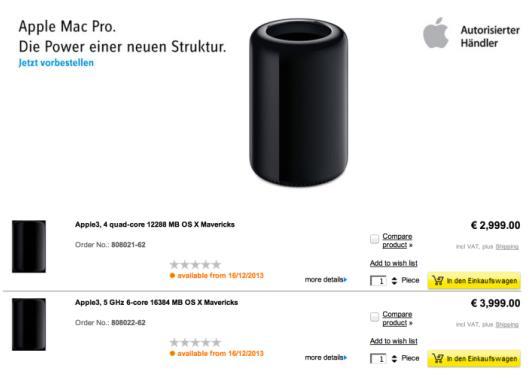Mac Pro 2013 pour décembre-Info iDevice