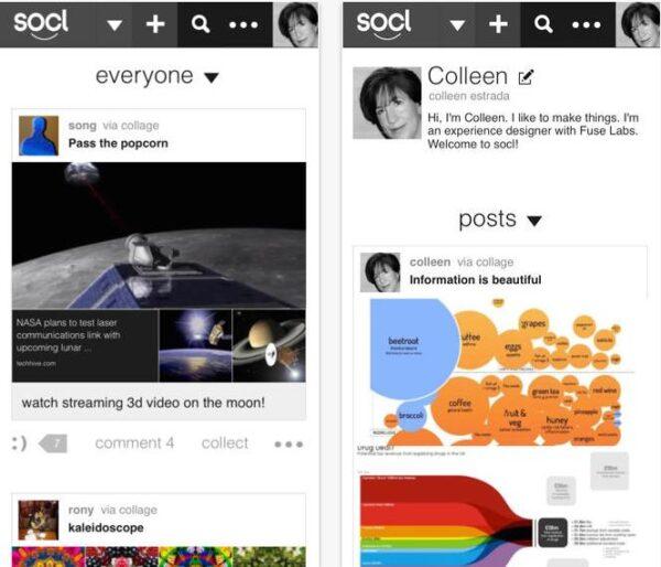 Microsoft Socl réseau social-Info iDevice