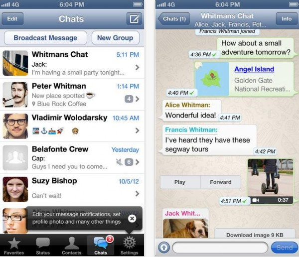 WhatsApp iOS 7 iOS-Info iDevice